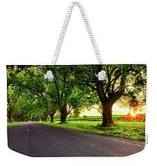 Weekender Tote Bag featuring the photograph Pecan Alley Sunrise - Scott Arkansas - Landscape by Jason Politte