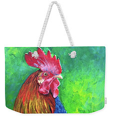 Morning Rooster Weekender Tote Bag