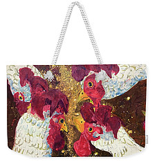 Pecking Order Weekender Tote Bag by Jame Hayes