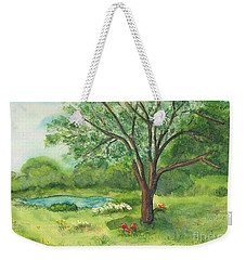 Weekender Tote Bag featuring the painting Pedro's Tree by Vicki  Housel