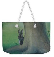 Peek A Boo Behind The Tree Weekender Tote Bag