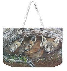Peekaboo Weekender Tote Bag