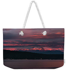 Weekender Tote Bag featuring the photograph Peekaboo Sunrise by Jan Davies