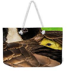Peeking Gosling 8x10 Weekender Tote Bag