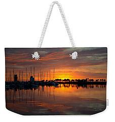 Peeking Sun Weekender Tote Bag
