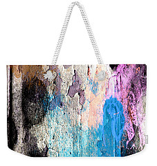 Weekender Tote Bag featuring the mixed media Peeling Paint by Jessica Wright