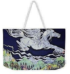 Pegasus Flying Over Stream Weekender Tote Bag