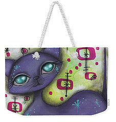 Peggy Cat Weekender Tote Bag by Abril Andrade Griffith