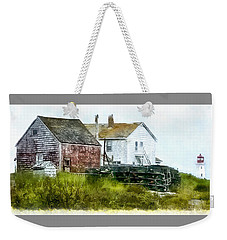 Weekender Tote Bag featuring the photograph Peggy's Cove Lighthouse Nova Scotia Canada by Betty Denise