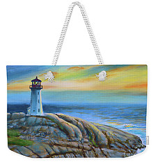 Peggy's Cove Sunset Weekender Tote Bag