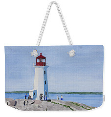 Peggy's Point Lighthouse Weekender Tote Bag by Mike Robles