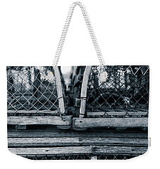Weekender Tote Bag featuring the photograph Pei Loberster Traps by Chris Bordeleau