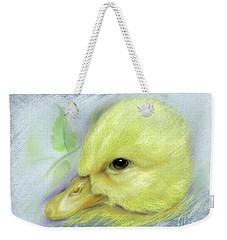 Pekin Duckling Portrait Weekender Tote Bag by MM Anderson