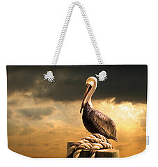 Pelican After A Storm Weekender Tote Bag by Mal Bray