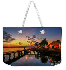 Pelican Cafe Sunrise Weekender Tote Bag