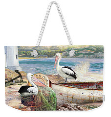 Pelican Cove Weekender Tote Bag by Trudi Simmonds