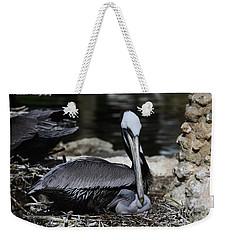 Pelican Hug Weekender Tote Bag