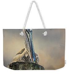 Pelican In Paradise Squared Weekender Tote Bag