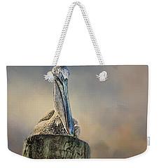 Pelican In Paradise Weekender Tote Bag