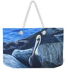 Pelican On The Rocks Weekender Tote Bag