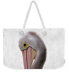 Pelican Portrait 001 Weekender Tote Bag by Kevin Chippindall