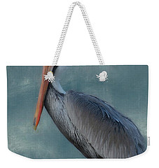 Weekender Tote Bag featuring the photograph Pelican Portrait by Benanne Stiens