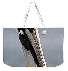 Weekender Tote Bag featuring the photograph Pelican Portrait by Sally Weigand