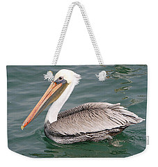 Weekender Tote Bag featuring the pyrography Pelican Profile by Shoal Hollingsworth