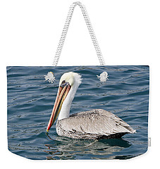 Weekender Tote Bag featuring the pyrography Pelican by Shoal Hollingsworth
