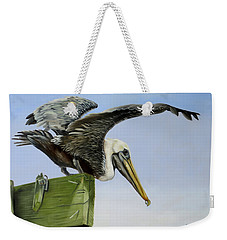 Pelican Wings Weekender Tote Bag by Phyllis Beiser