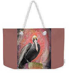 Pelican With Red Weekender Tote Bag
