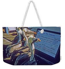 Pelicans And The Menu Weekender Tote Bag