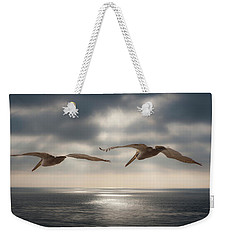 Pelicans At Sea Weekender Tote Bag