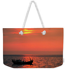 Pelicans At Sunset Weekender Tote Bag