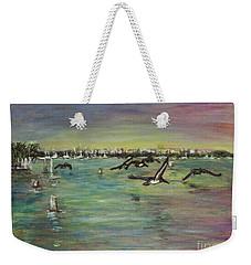 Pelicans Fly Weekender Tote Bag