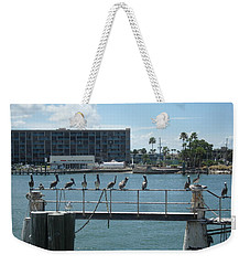 Pelicans In A Row Weekender Tote Bag