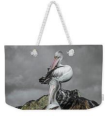 Pelicans On Rocks Weekender Tote Bag