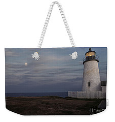 Pemaquid And Full Moon Weekender Tote Bag
