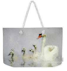 Pen And Her Cygnets Weekender Tote Bag