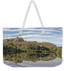 Weekender Tote Bag featuring the photograph Pena Blanca Lake by Elaine Malott