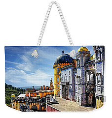 Weekender Tote Bag featuring the photograph Pena Palace In Sintra Portugal  by Carol Japp