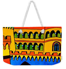 Weekender Tote Bag featuring the painting Pena Palace Portugal by Dora Hathazi Mendes