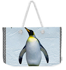 Penguin Christmas Weekender Tote Bag by Steve Karol