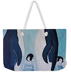 Penguin Family  Weekender Tote Bag