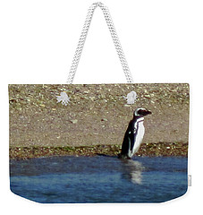 Penguin On The Beach Weekender Tote Bag