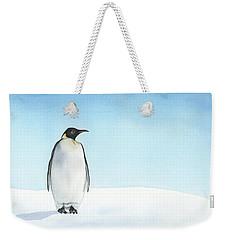 Penguin Watercolor Weekender Tote Bag by Taylan Apukovska