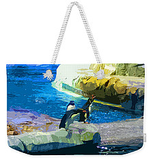 Penguins At The Zoo Weekender Tote Bag