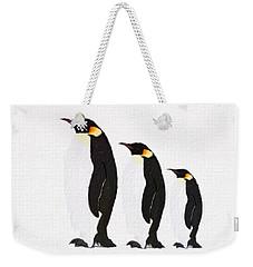 Penguins Family  Weekender Tote Bag by Gabriella Weninger - David