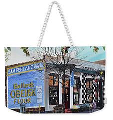 Weekender Tote Bag featuring the painting Penland Bros Store - Ellijay Georgia - Historical Building by Jan Dappen