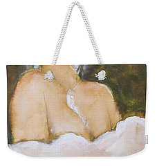 Weekender Tote Bag featuring the painting Sophie by Ed Heaton